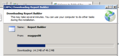 Report Builder 2.0 ClickOnce Install