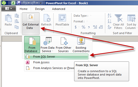 how to open power pivot in excel 2016