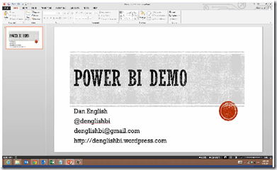 PowerBI Facebook Demo