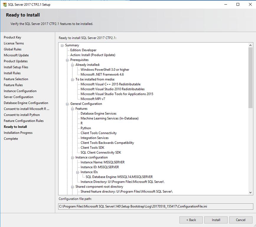 SQL Server 2017 CTP2 1 Install Experience « Dan English's BI